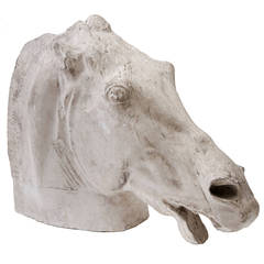 20th Century Continental Plaster Horses Head Modelled after the Horse of Selene