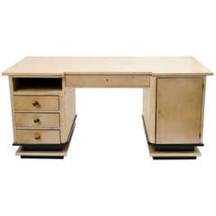 French Art Deco Vellum Desk by Jauvert & Alet, c.1940