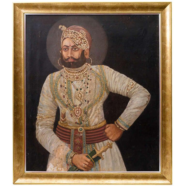 Indian Painting Of A Maharaja From Malerkotla Punjab C