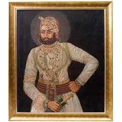 Indian Painting of a Maharaja from Malerkotla, Punjab c.1920