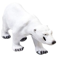 Bronze Polar Bear by Paula Swinnen