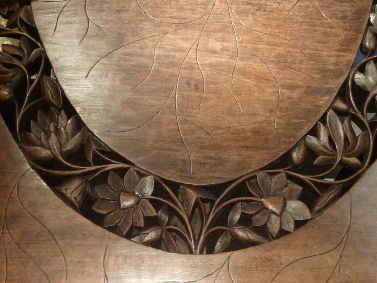 oval carved wood north indian dining table at 1stdibs