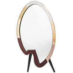 Unusual Italian Standing Mirror in the Form of an Artist's Palette, circa 1990