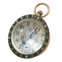 Large Glass Ball Clock/Paperweight