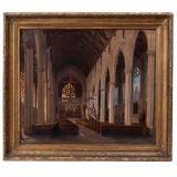 Oil on Canvas - Church Interior