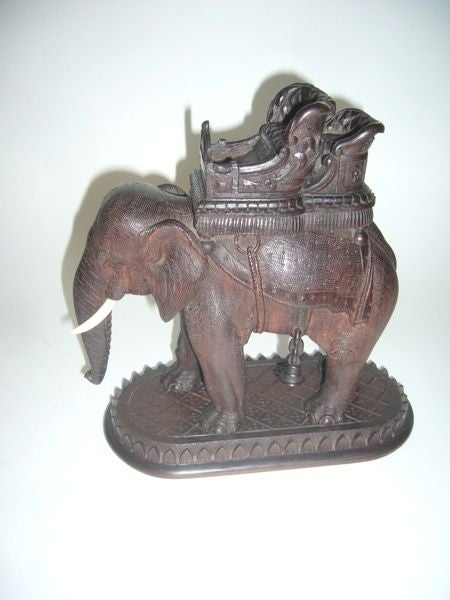 Finely Carved Rosewood Camel And Elephant At 1stdibs