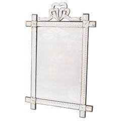 French 'Venetian' Style Mirror with Bow Crest