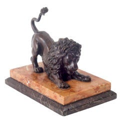 Grand Tour Bronze of a Crouching Lion