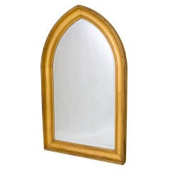 Regency Giltwood Eagle Crest Convex Mirror At 1stdibs