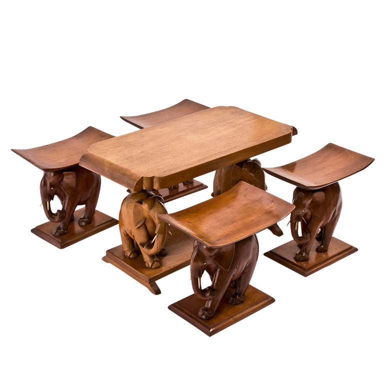 Suite Of African Teak Quot Elephant Quot Furniture