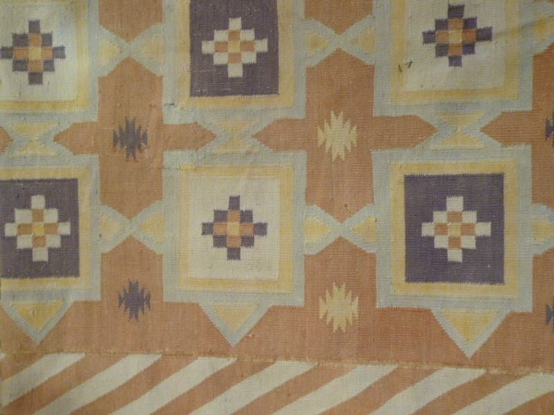 Antique Indian Dhurrie Rug At 1stdibs