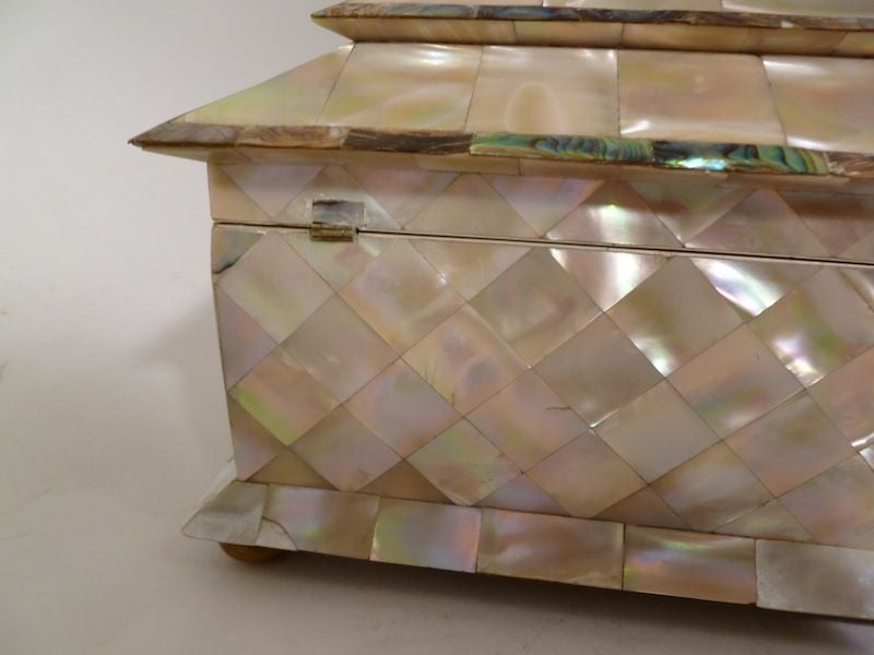 Victorian Mother of Pearl and Ivory Tea Caddy image 4