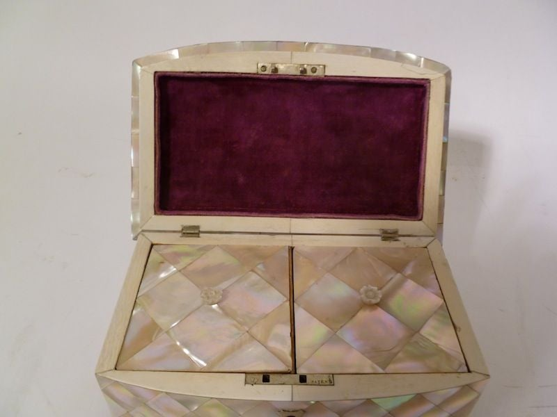Victorian Mother of Pearl and Ivory Tea Caddy image 5
