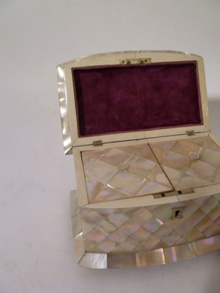 Victorian Mother of Pearl and Ivory Tea Caddy image 7