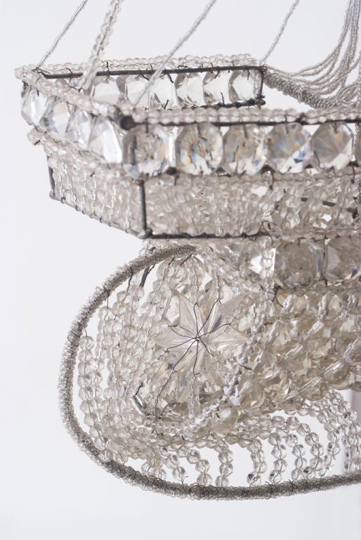 A Beaded Glass and Crystal Ship-Form Chandelier by Bagues 7