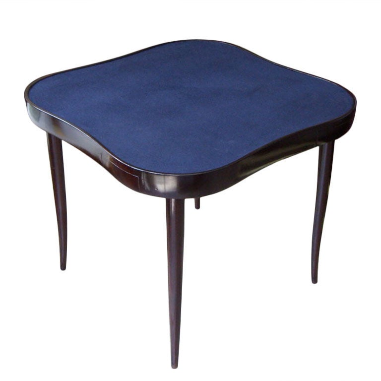 Four Drawer Card Table With Blue Baize Italian C 1940 At