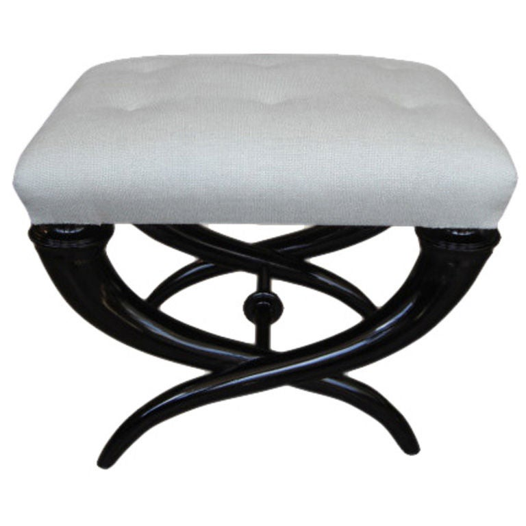 An Ebonised And Upholstered Stool At 1stdibs