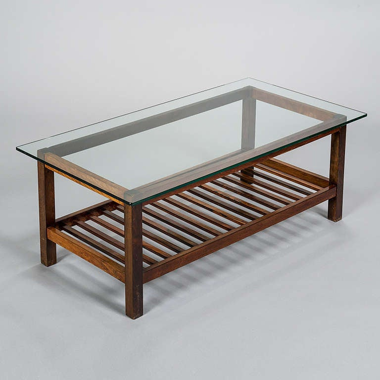 Jacaranda two tone ladder bottomed coffee table brazil for Ladder coffee table