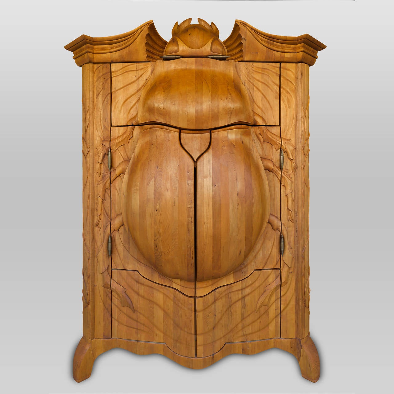 Unique and extraordinary beetle cabinet made by janis for Furniture riga