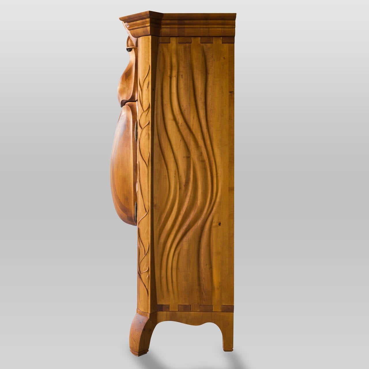 "Latvian Unique and Extraordinary ""Beetle"" Cabinet Made by Janis Straupe, Latvia, 2014"