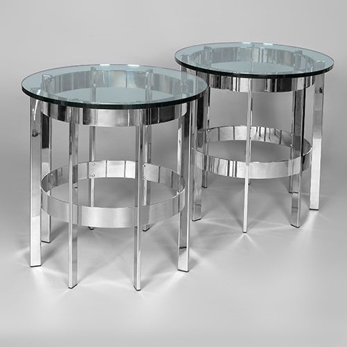 Pair of Merrow Associates Side Tables, England, c1970 3