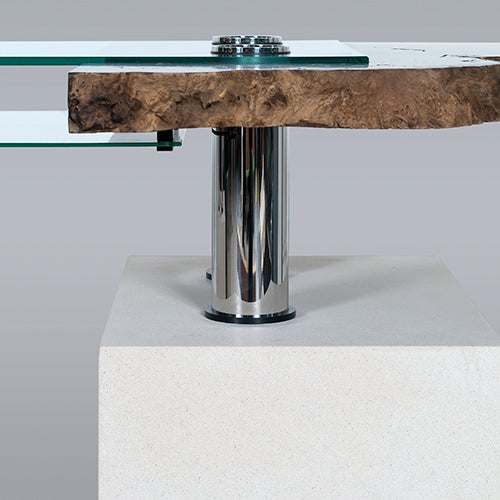 "Stone and Glass ""Titan"" Computer Desk by Pete Carling, 2005 6"