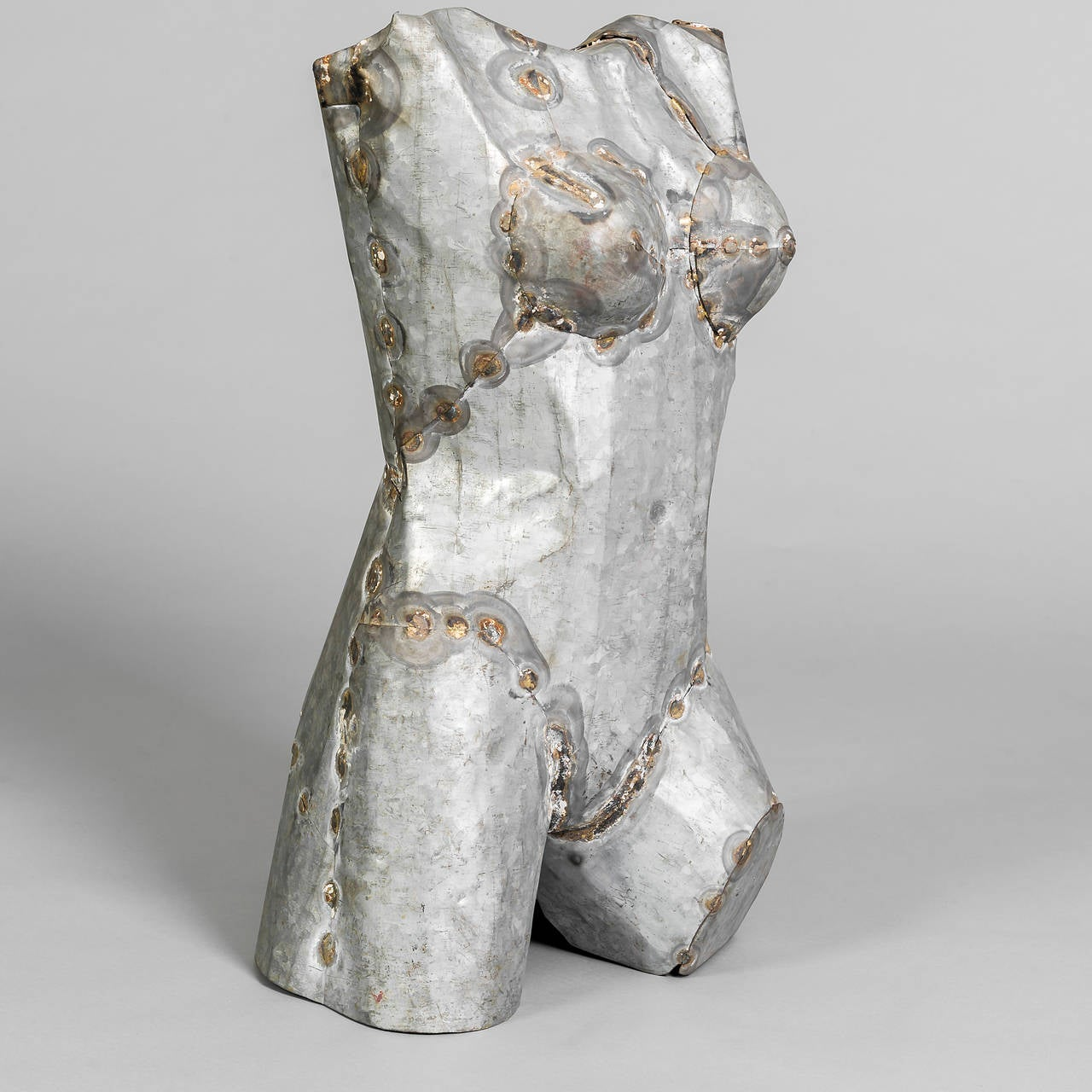 Pair of Torso Sculptures in Zinc In Good Condition For Sale In London, GB