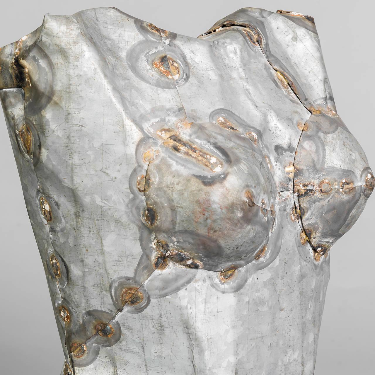 Mid-20th Century Pair of Torso Sculptures in Zinc For Sale