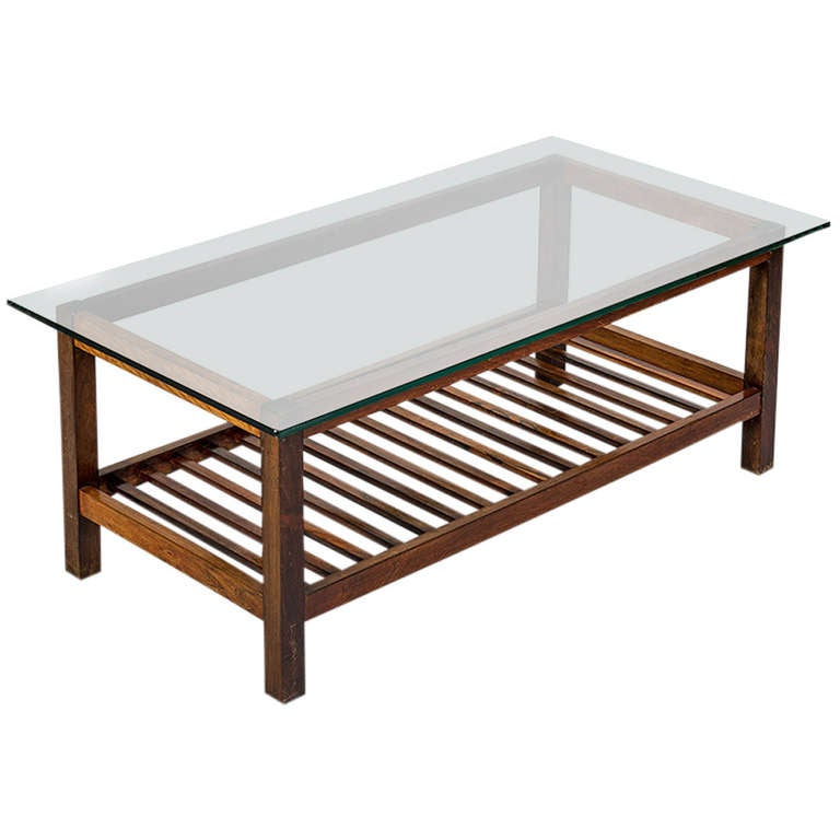Jacaranda Two Tone Ladder Bottomed Coffee Table Brazil 1950s At 1stdibs