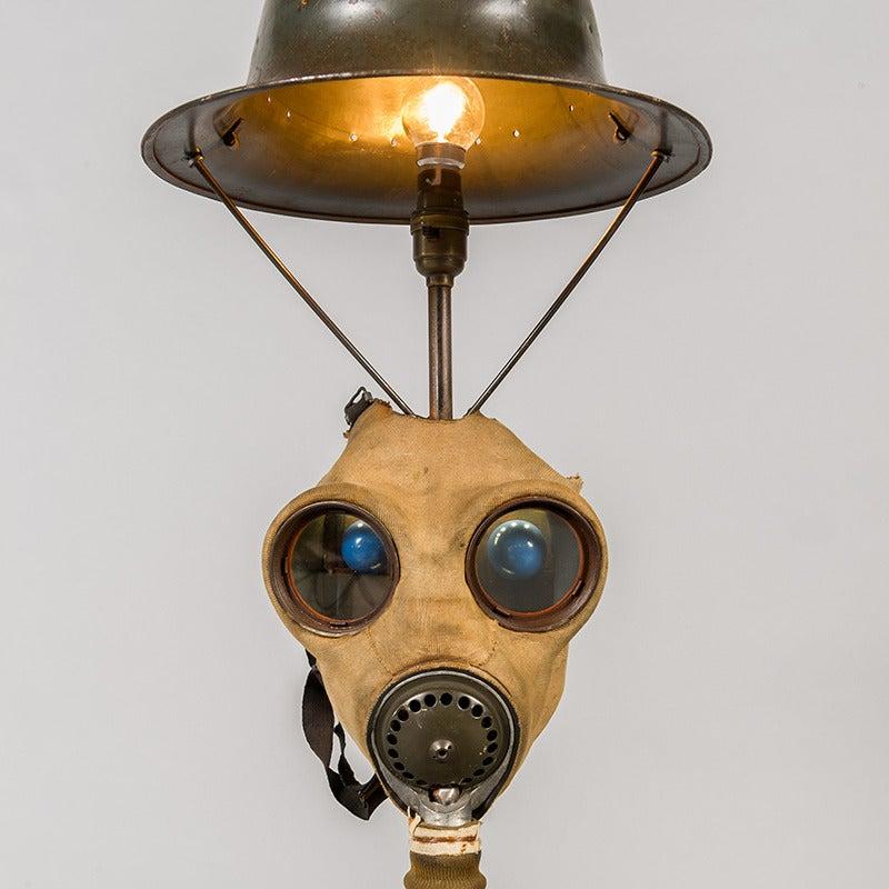 Gas mask table light
