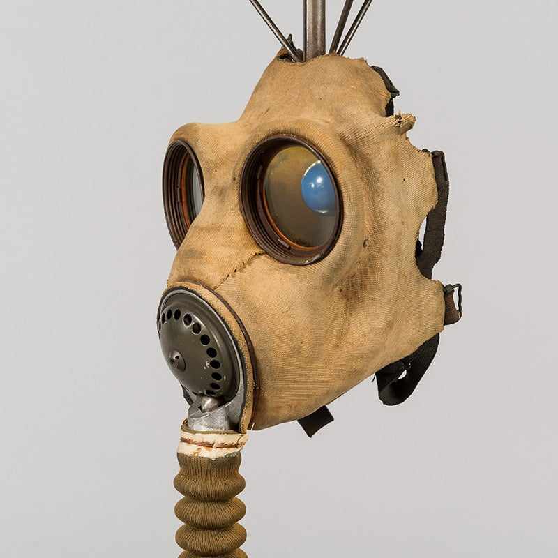 Gas Mask Table Light In Good Condition For Sale In London, GB