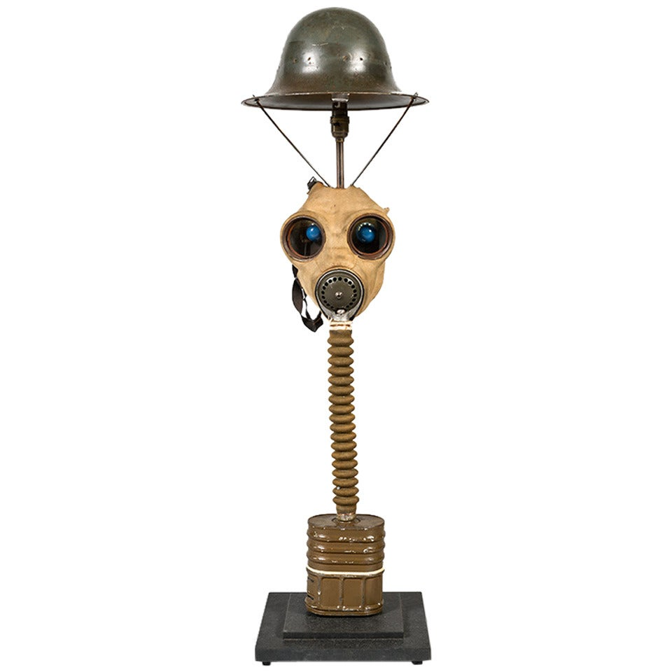 Gas Mask Table Light For Sale