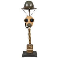 Gas Mask Table Light