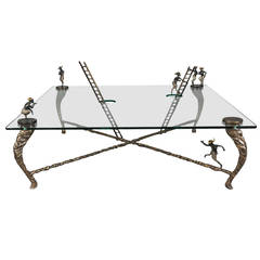 Limited Edition Cast Bronze and Glass Centre Table by Nick Davis, England