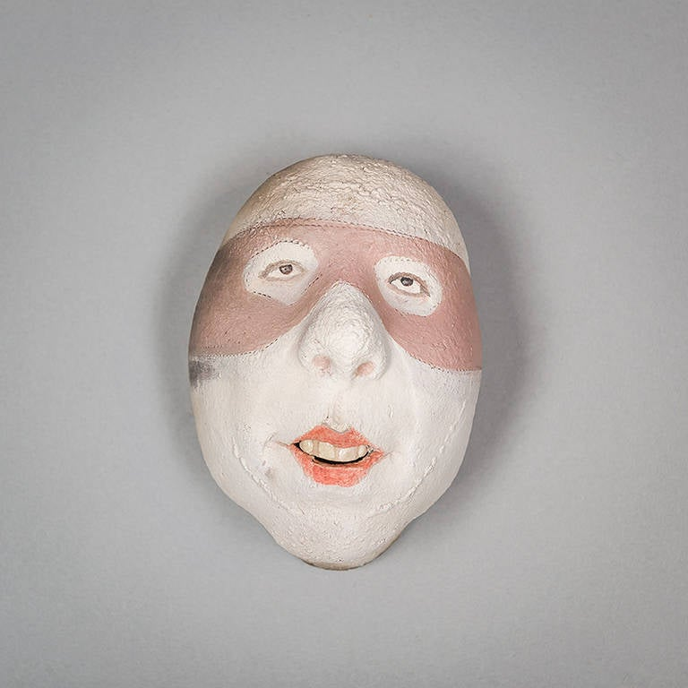 Assorted Ceramic Masks by Johan Thunell For Sale 3