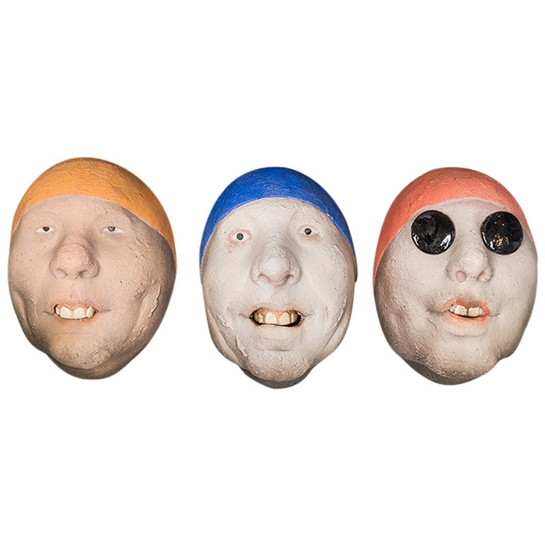 Assorted Ceramic Masks by Johan Thunell For Sale