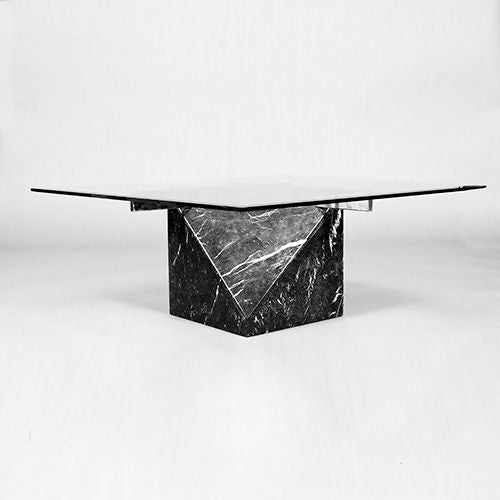 Coffee Table Bases For Marble Tops: Artedi Marble Base And Glass Top Coffee Table 1970/80s At
