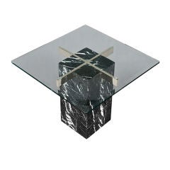Artedi marble base & glass top side table 1970/80s