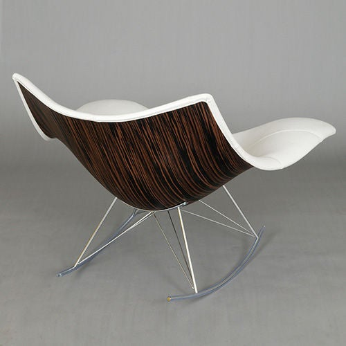 This Stingray Rocking Chair in White Leather by Thomas Pedersen is no ...