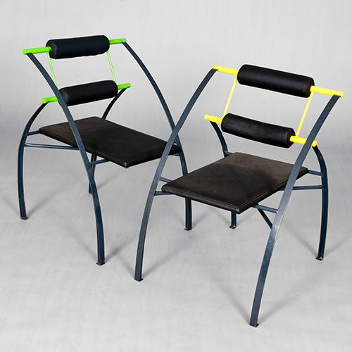Set of four chairs by mario botta italy late 1980s or for 80s furniture for sale