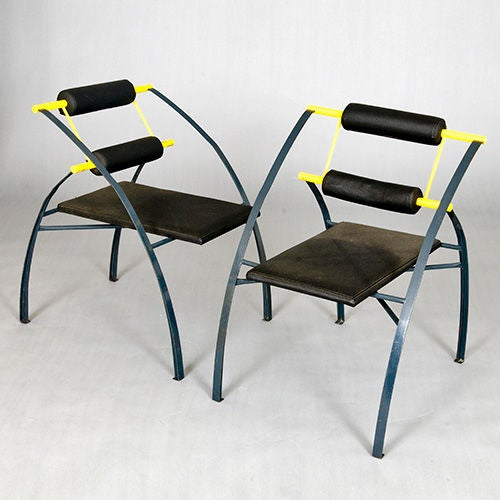 Italian Set of Four Chairs by Mario Botta, Italy, Late 1980s or Early 1990s For Sale
