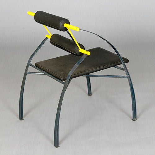 Metal Set of Four Chairs by Mario Botta, Italy, Late 1980s or Early 1990s For Sale