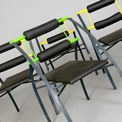 Set of Four Chairs by Mario Botta, Italy, Late 1980s or Early 1990s For Sale 1