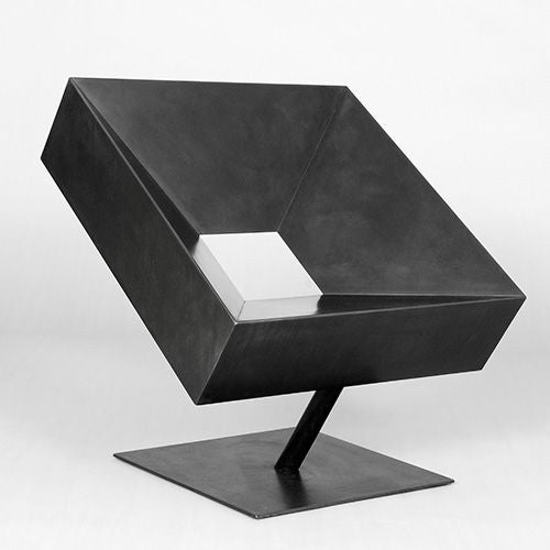 'Cadre' Steel Chair by Stephane Ducatteau, France, 2005. Signed.   Don't be put off about the thought of sitting on a steel chair, this is perfectly proportioned and very comfortable.  All Ducatteau pieces are available exclusively from