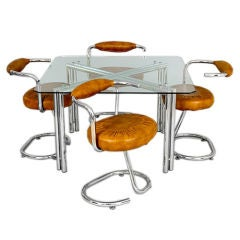 Dining Table and Four Chairs Attributed to Giotto Stoppino, 1960s-1970s