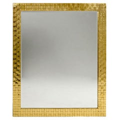 Brass Framed Mirror, USA, 1970s