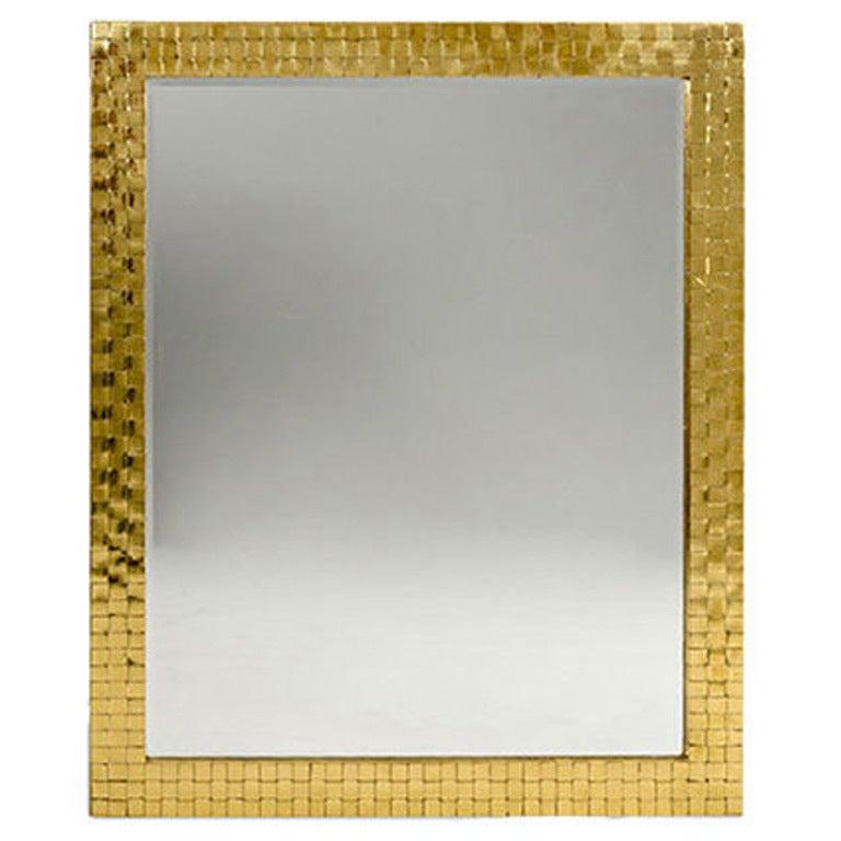 Brass Framed Mirror, USA, 1970s