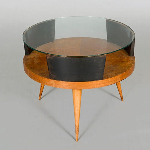 Drum Coffee Table Attributed To Martin Eisler At 1stdibs