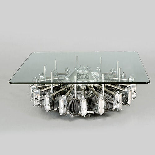 Lycoming R680 9 Cylinder Radial Engine Table, USA, circa 1936-1938 2