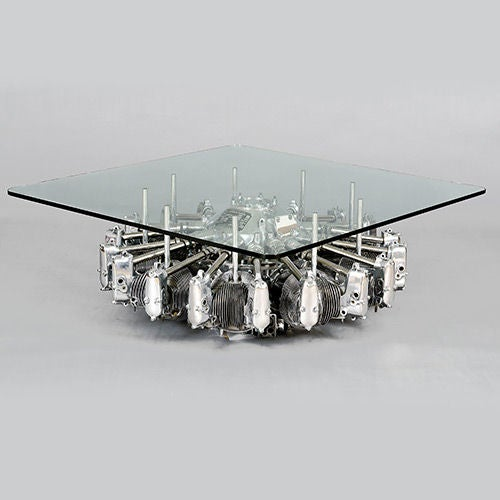 Lycoming R680 9 Cylinder Radial Engine Table, USA, circa 1936-1938 3